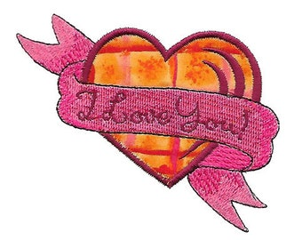 Applique Heart With Banner - Machine Embroidery