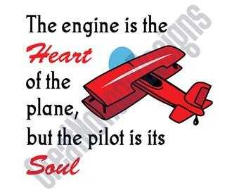Soul of Airplane SVG - HTV - Vinyl Cutting Graphic Art