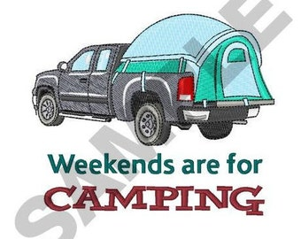 Tent Camping - Machine Embroidery Design