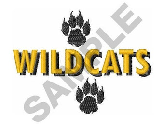 Wildcats And Paws - Machine Embroidery Design