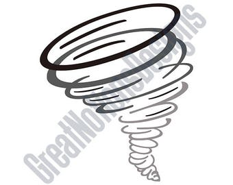 Tornado SVG - HTV - Vinyl Cutting Graphic Art