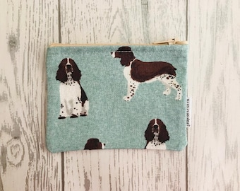Tibetan Terrier Blue Floral fabric zip coin purse card holder dog lover gift coin purse gifts for her bags /& purses stocking filler