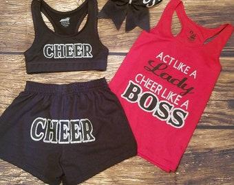 Myla Girl Cheer Practice Shorts Youth Running Shorts