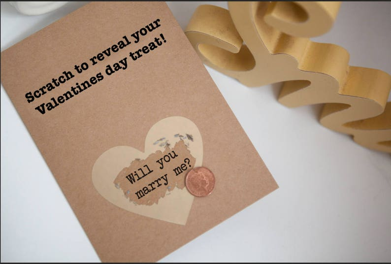 Marriage Proposal Proposal Idea Scratch Card Proposal Valentines Proposal Gift For Her Marry Me Card Marry Me Card For Girlfriend