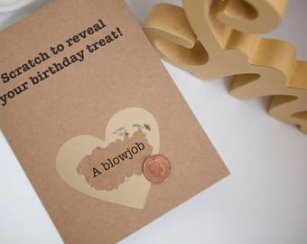 Scratch Card, Funny Birthday Card, Rude Birthday Card, Boyfriend/ Girlfriend/ Husband / Wife, naughty card, funny card, card for boyfriend