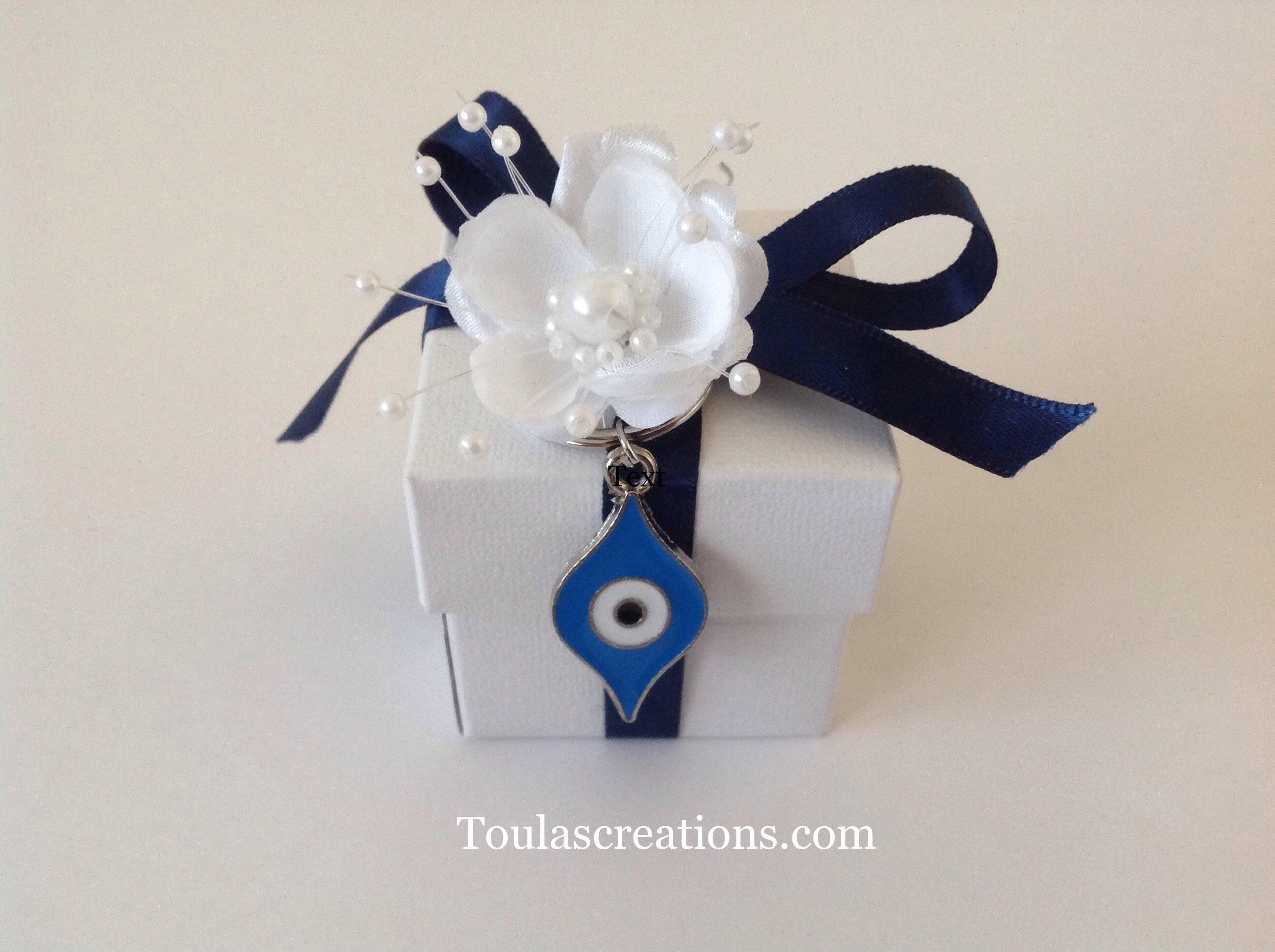 Greek Wedding Bomboniera Box/Handmade Guests Gift/Baptism