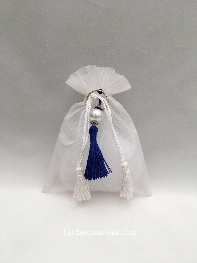Greek Wedding FavorsItalian Wedding Bomboniera Greek Baptism FavorsHandmade BombonieresGuest GiftsTassel KeychainOrganza Bag Favors