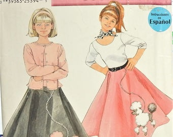 cb589d5eae97a 2001 NEW LOOK by Simplicity 0604 UNCUT sizes 7 8 10 12 14 Classic Poodle  Skirts Costumes
