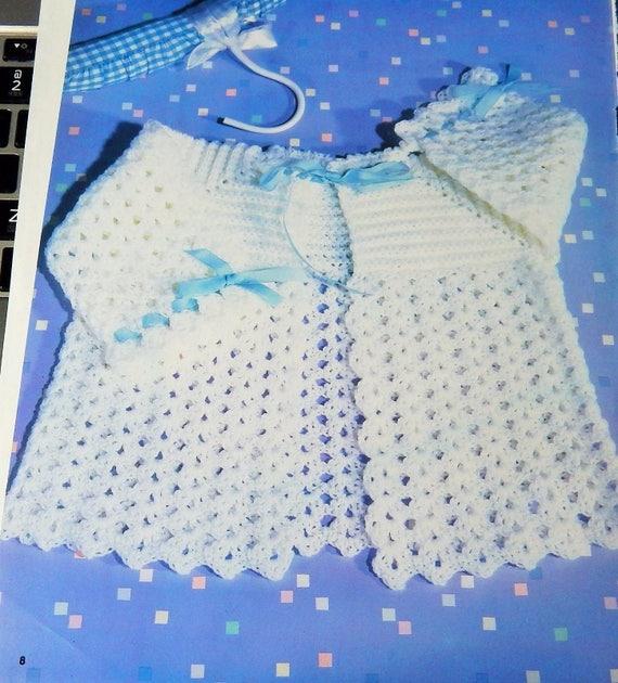 Two Crochet Patterns Baby Cherub Sweater 6-12 MOS Cotton | Etsy