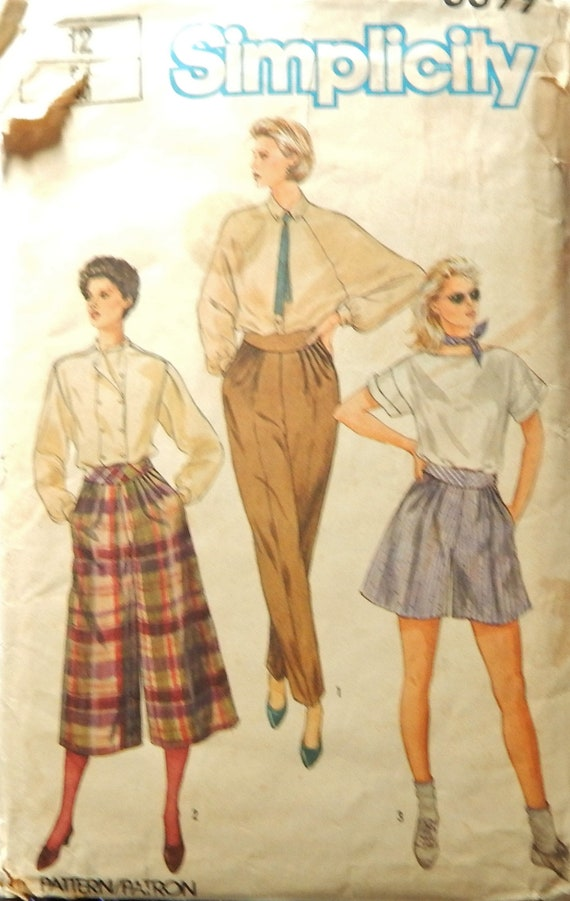 Vintage 1984 Simplicity 6699 CUT size 12 for Misses View 3  018befc87
