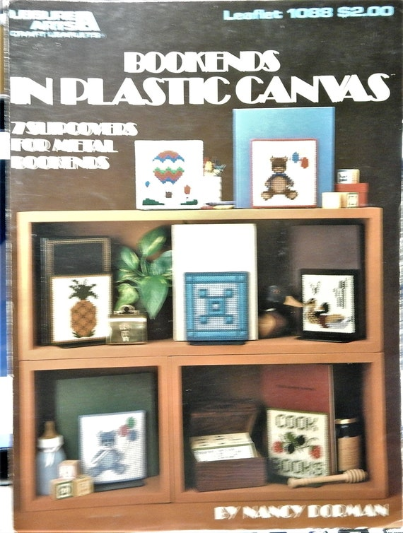 OOP 1980 Leisure Arts moreNeedlepoint Projectsfor Plastic Canvas Leaflet 184 Instruction booklet only 16 Projects