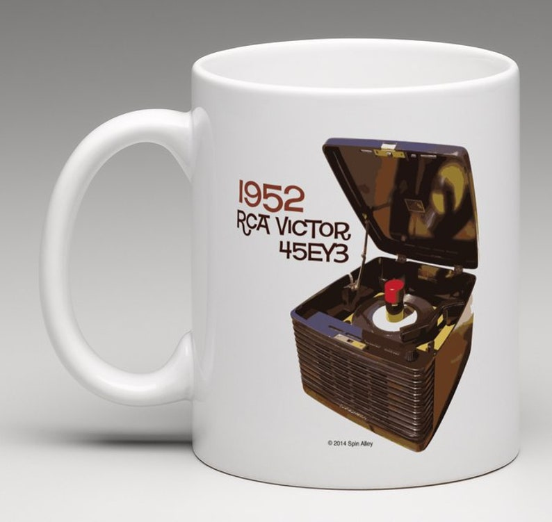 Spin Alley The Icons RCA Victor 45-EY-3 Coffee Mug image 0