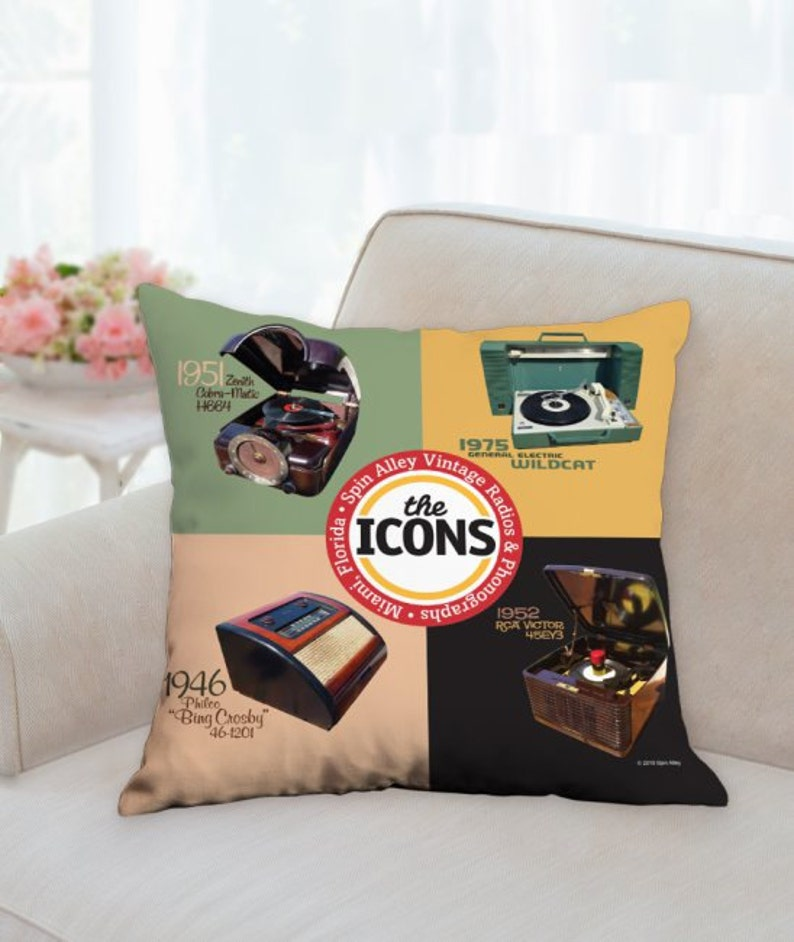 Spin Alley The Icons 18 x 18 Throw Pillow image 0