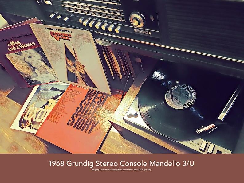 1968 Grundig Stereo Console Mandello 3/U 24 x 18 Poster image 0