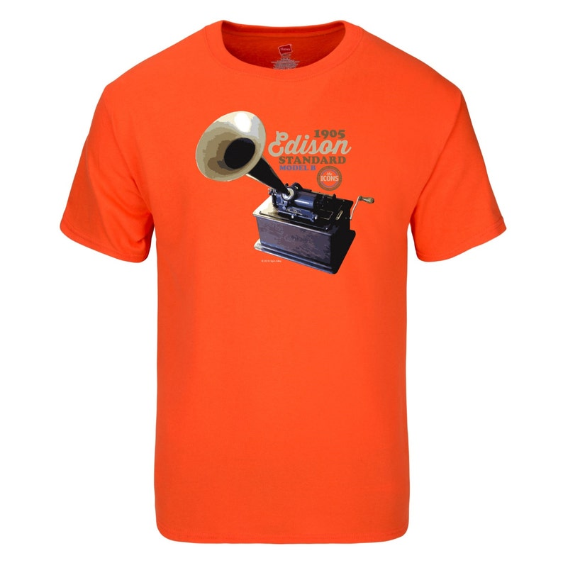 Spin Alley The Icons Edison Standard Phonograph T-Shirt  image 0