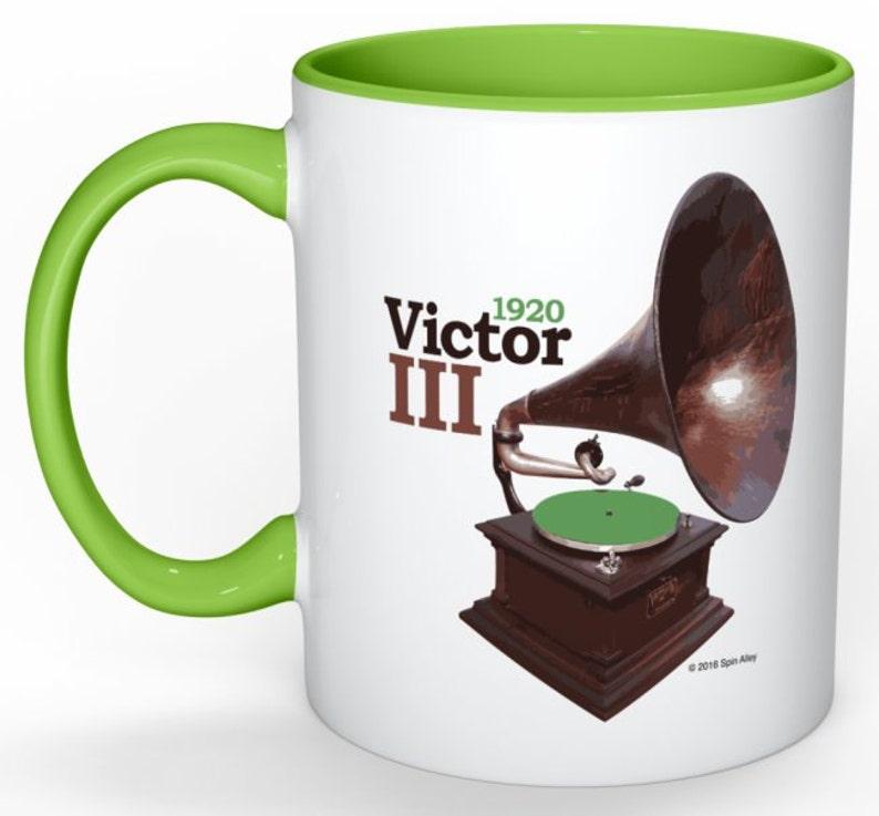 Spin Alley The Icons Victor III Phonograph Coffee Mug image 0