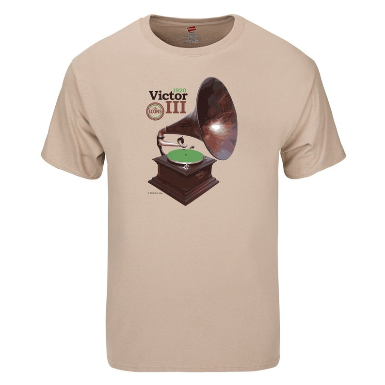 Spin Alley The Icons Victor III Phonograph T-Shirt image 0