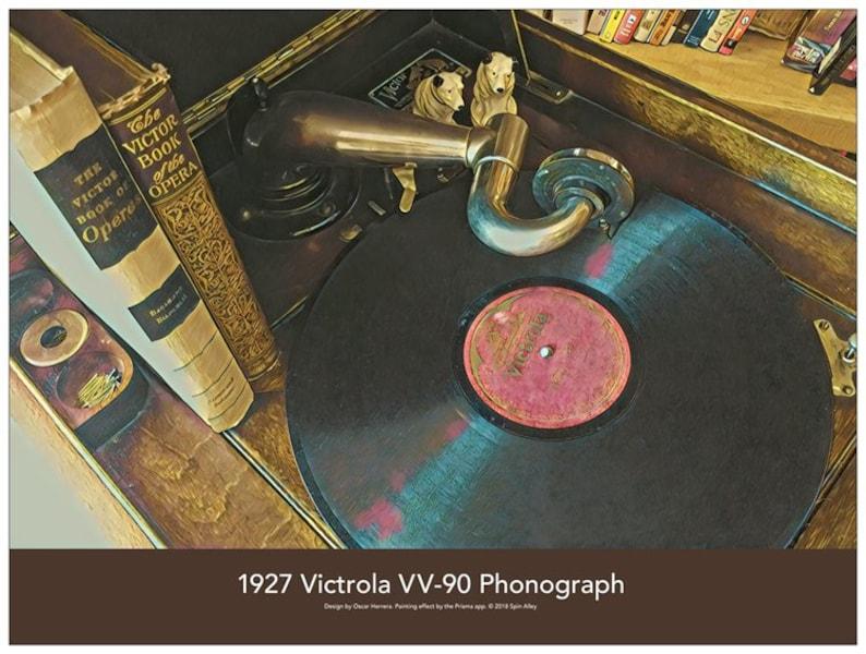 1927 Victrola VV-90 Phonograph 24 x 18 Poster image 0