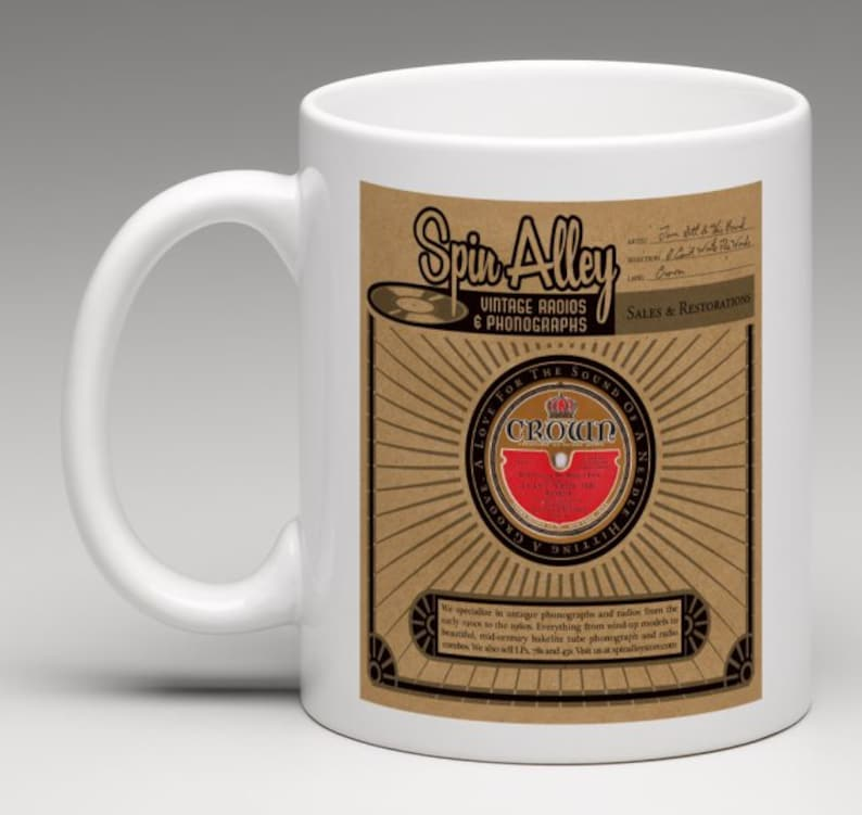 Spin Alley Record Sleeve Coffee Mug image 0
