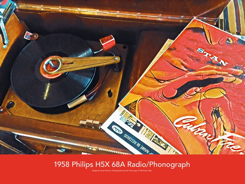 1958 Philips H5X 68A Radio/Phonograph 24 x 18 Poster image 0