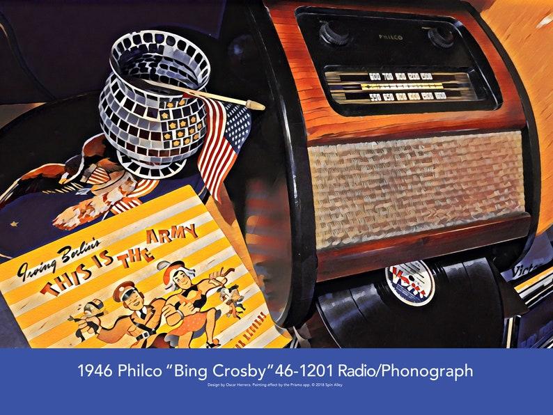 1946 Philco Bing Crosby 46-1201 Radio/Phonograph image 0