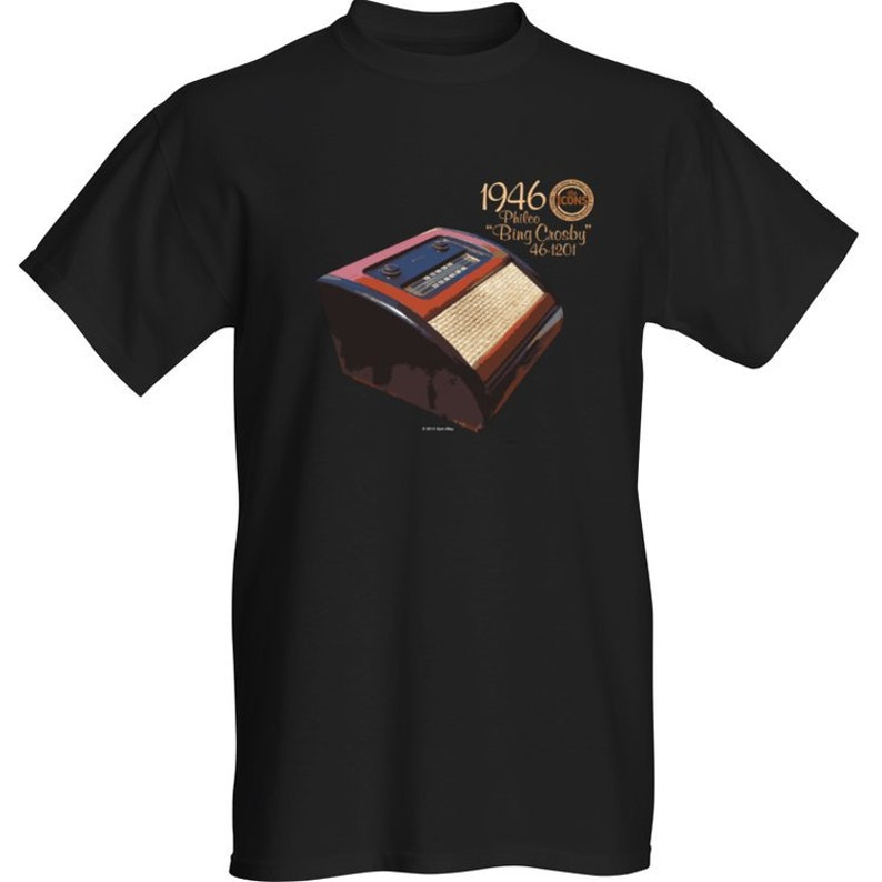 Spin Alley The Icons Philco 46-1201 Bing Crosby T-Shirt  image 0