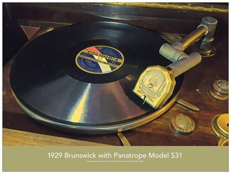 1927 Brunswick S31 Phonograph/Radio 24 x 18 Poster image 0