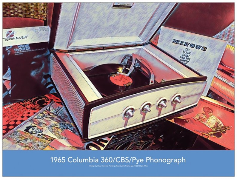 1965 Columbia 360/CBS/Pye Record Player 24 x 18 Poster image 0
