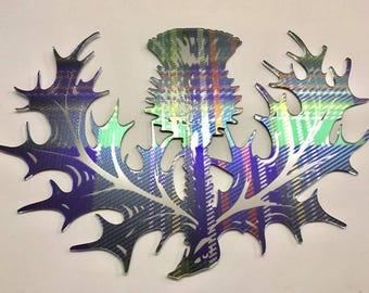 Tartan Acrylic Wall Art Thistle