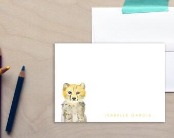 Kids Personalized Stationery Set, Personalized Stationery, Custom Stationery, Custom Note Cards, Safari Kids Stationery