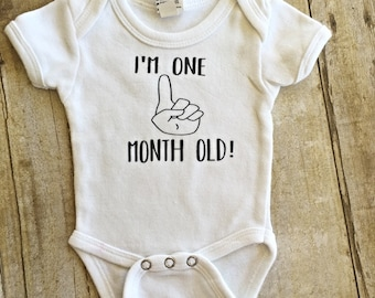 I'm One Month Old Onesies® brand by Gerber®