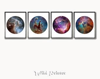 Canvas Astronomer George Gamow Art print POSTER