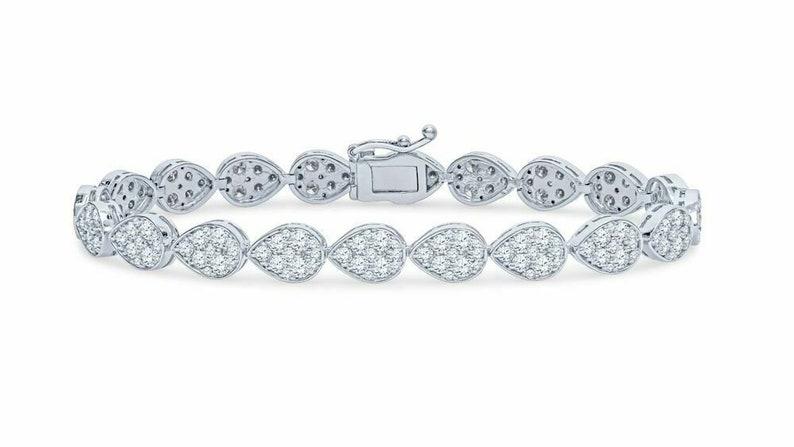 695f5519c 14K White Gold 5.04 CTW Diamond Tennis Bracelet 15 Grams | Etsy