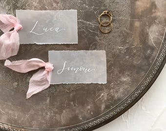 Vellum Place Cards, Personalized Place Cards, Wedding Place Cards, Custom Place Cards, Vellum Wedding