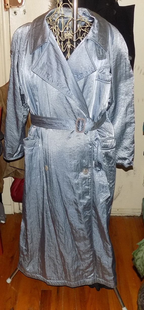 Vision  LONG COAT  in silver