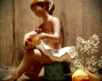 RARE. AS-NEW With Tag Turis Artisticas Valencia Porcelain Ballerina // Superb Hand-made Spanish Porcelain Figurine // Ideal Gift for Dancer
