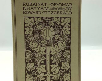 Very Rare D.B. TARAPOREVALA & Sons Bombay Edition Rubaiyat of OMAR KHAYYAM Translated by Edward Fitzgerald + Illustrated by Willy Pogany