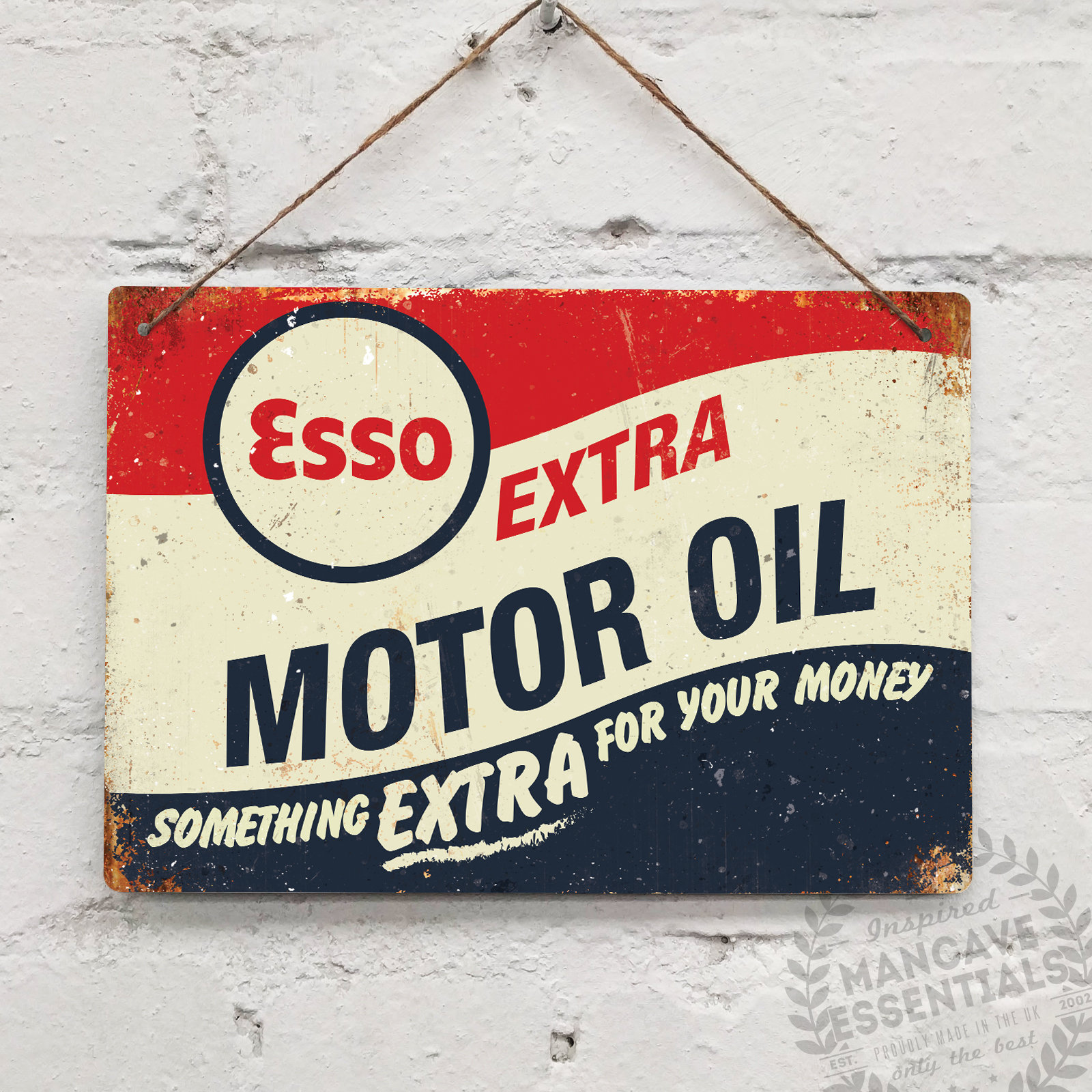 BP Motor Services Vintage Metal Wall Sign Garage Shed Retro Dad Mancave UK Oil