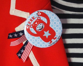 Big bear badge-pin