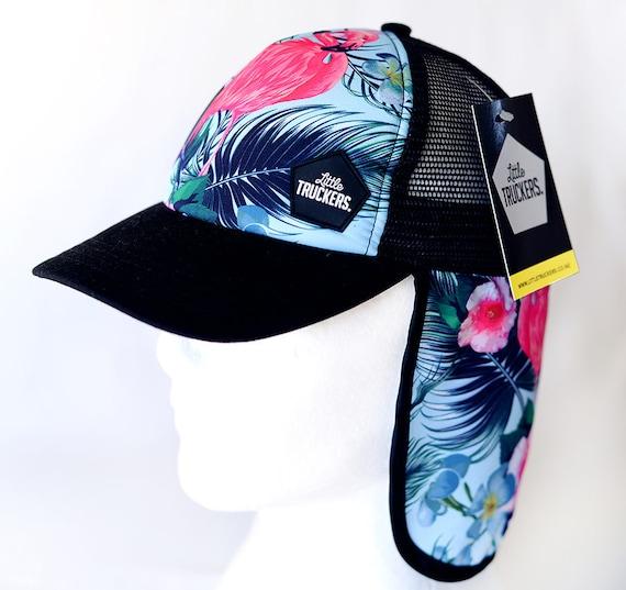 2354529b3c6 Kids trucker cap with neck protection. Kids cap kids beach