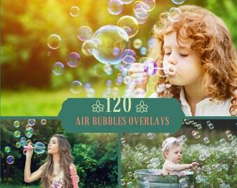 120 Bubbles Photoshop Overlays, Air Bubbles Overlays, Soap Bubbles Overlay, Realistic bubble effect, Bubbles Overlays, Bath Digital Backdrop