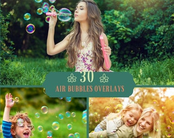 30 Blowing Bubbles Photoshop Overlays, Soap Bubbles Overlay, Digital Backdrop, Photoshop Overlays, Spring Overlays, Soap bubble overlay