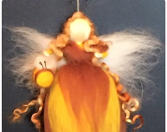 Bumblebee Needle Felt Fairy. Waldorf Inspired Fairy