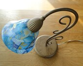 Lamp with worked lampshad...
