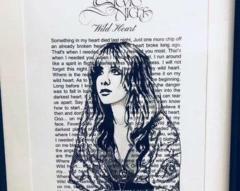 Stevie Nicks hand drawn art