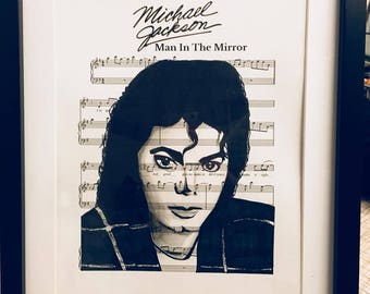 Michael Jackson sheet music art