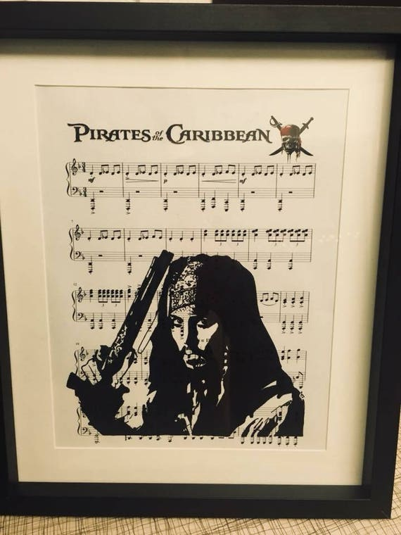Pirates Of The Caribbean Sheet Music Art Etsy
