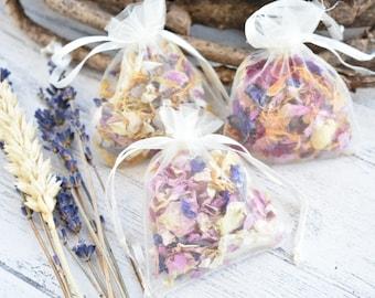 Biodegradable Confetti | Organza Confetti Pouches | Natural Dried Petal Confetti | Classic  Confetti | Rose Petal Confetti | Confetti Bags