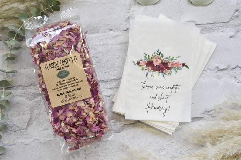 Natural Biodegradable Wedding Confetti and Bags  Luxury image 0