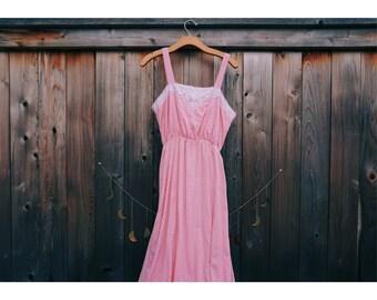 Boho Pink Maxi Dress